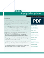 Medical Liability a Physician Primer