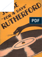 1940 Judge for 4 Days Rutherford