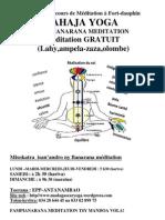 PROGRAM cours de Méditation à Fort-dauphin