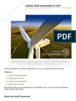 Wind Power Applications Grid Connected or Not