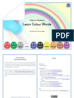 Learn Colour Words (Ages 3-7)