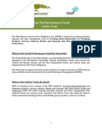 SP Fund Call for Tools