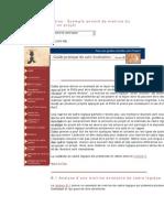 Annexe B - Exemple annoté de matrie du cadre logique d'un projet
