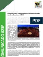 Comunicado Prensa Valoracion23F
