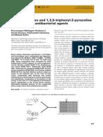 Novel Chalcones and 1,3,5 Triphenyl 2 Pyrazoline
