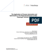The Application of Process Automation and Optimisation in the Rapid Development of New Passenger Vehicles at SAIC Motor