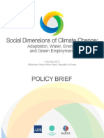Social Dimensions Climate Change