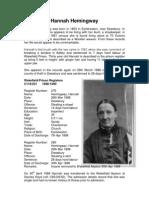 Case Notes of Hannah Hemingway, Wakefield