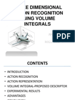 Three Dimensional Action Recognition Using Volume Integrals ppt