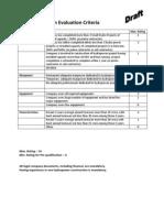 PQ Evaluation Criteria