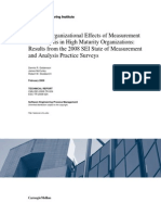 Use and Organizational Effects of Measurement and Analysis in High Maturity Organizations