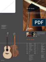35 Series Catalogue page from George Lowden Guitars, handmade in Ireland