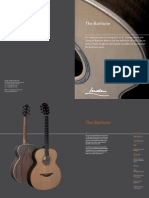 Baritone Series Catalogue page from George Lowden Guitars, handmade in Ireland