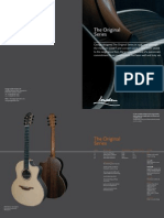 Original Series Catalogue page from George Lowden Guitars, handmade in Ireland