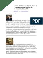 LA MATERIA EN LA RESURRECCIÓN Por Manuel Carreira