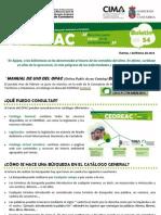 """""""MANUAL DE USO DEL OPAC (Online Public Access Catalog) DEL CEDREAC"""""""