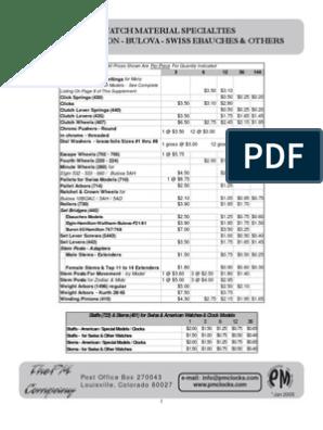 FELSA MST FHF - SEE LIST FEF ST EB Balance Complete NOS for Caliber AS