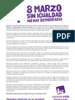 Manifiesto 8 Marzo 2013
