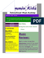 Jammin Kids March 2013 Notes on Music Lessons