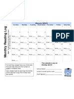 March 2013 Reading Calendar