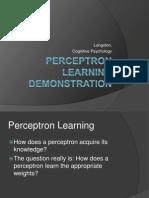 Percept Ron Learning
