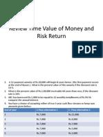 Review Tvm & Risk Return