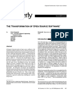 THE TRANSFORMATION OF OPEN SOURCE SOFTWARE