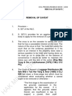 Removal of Caveats