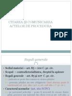 6 Citarea Si Comunicarea Actelor de Procedura