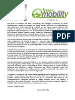 """Progetto """"Free Mobility"""" per il Comune di Scordia (CT)."""