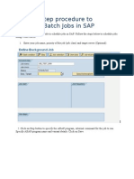 Step by Step Procedure to Schedule Batch Jobs in SAP