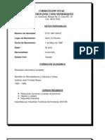 Curriculum Vitae Edwin Jose Cano Henriquez