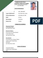 Curriculum Vitae Gricelda Johana Sabillon Gomez