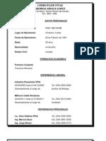 Curriculum Vitae Jeremias Amaya Lopez