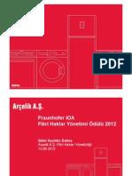 Fraunhofer IP Management 2012