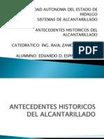 Antecedentes Historicos Del Alcantarillado