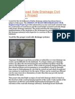 Road Side Drainage Matter
