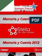 Memoria y Cuenta 2012 - Gobernación