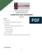 Cuadernillo Para El Estudiante 2013