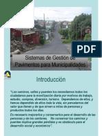 Gestion de Pavimentos Para Municipalidades