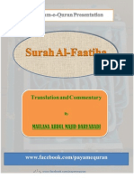 Surah Al-Faatiha---Translation and Commentary