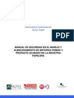 Manual de Seguridad en El Manejo y Almacenamiento de Materias Primas y Producto Acabado en La Industria Papelera