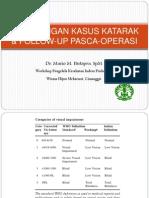 Penjaringan Kasus Katarak & Follow-up Pasca-operasi