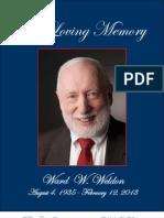 Ward Weldon Memory Book