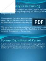 Syntax Analysis or Parsing
