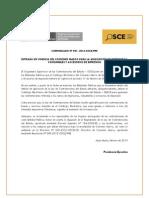 COMUNICADO Nº 001-2013-Vigencia CM impresoras