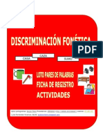 Cuadernillo Actividades Ficha Registro Loto