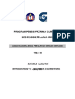 Ppg Introduction to Linguistics Coursework