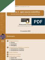 Seconda Lezione SoftwareFisica Opensource