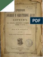 Александр Алексеев - Очерки домашней и общественной жизни евреев (1897)